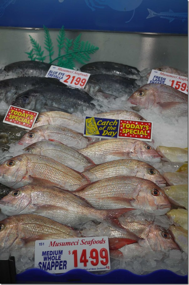 Whole snapper $14.99