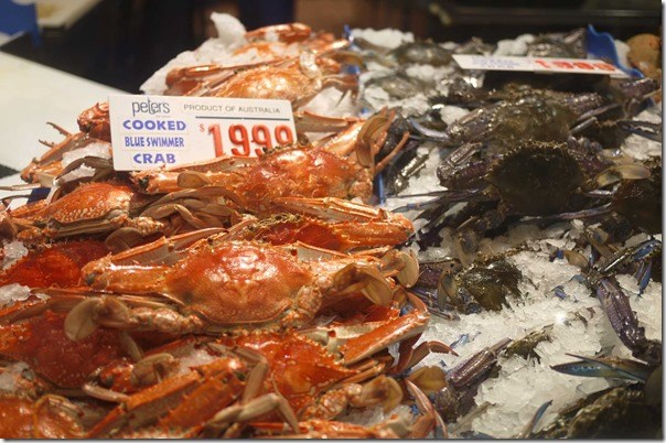 Cooked blue swimmer crabs $19.99/kg