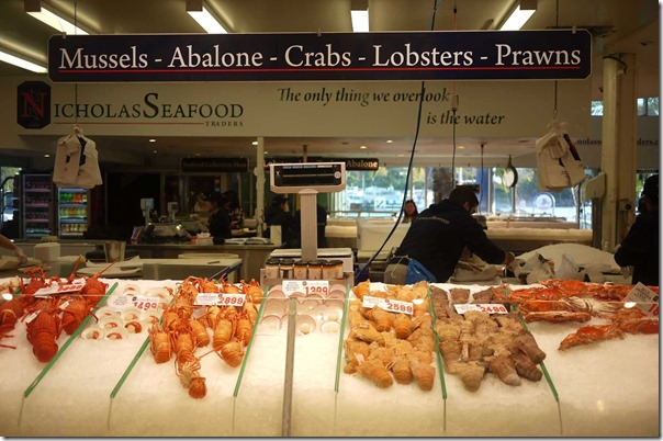 Mussels, abalone, crabs, lobsters and prawns, Nicholas Seafoods