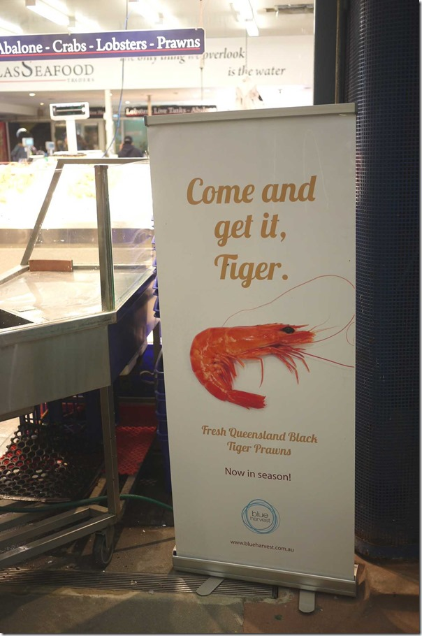 Fresh Queensland black tiger prawns