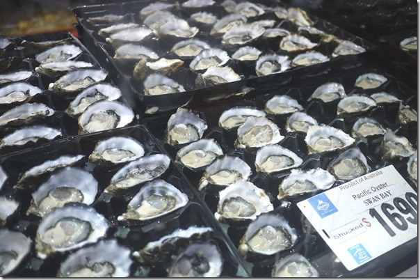 Pacific oysters from Swan Bay, New South Wales $16.00/dozen
