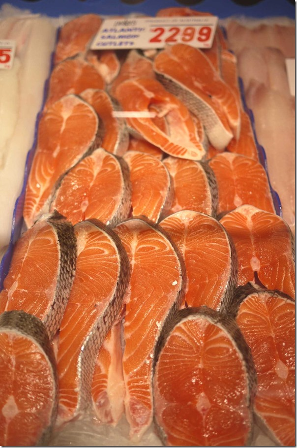 Atlantic salmon cutlets $22.99/kg