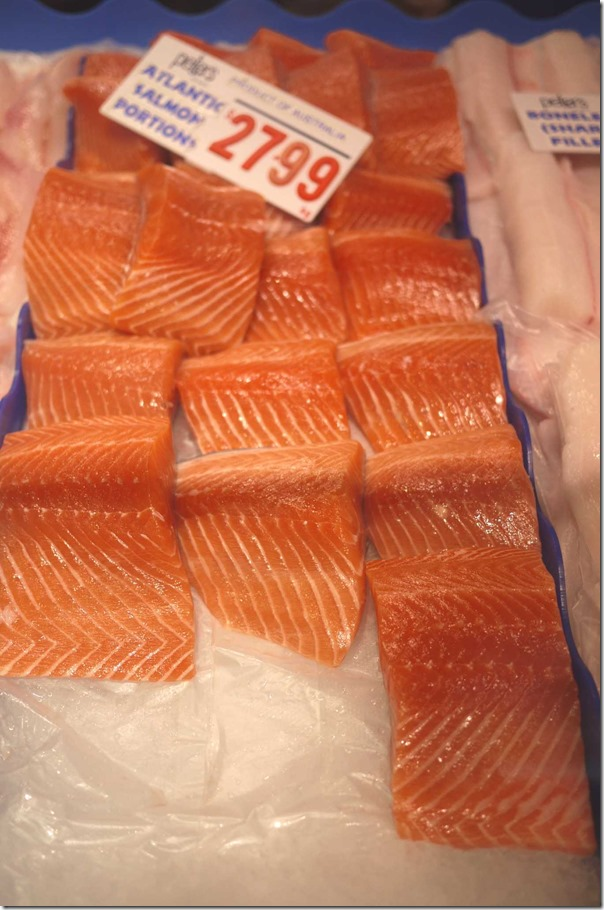 Atlantic salmon fillets $27.99/kg