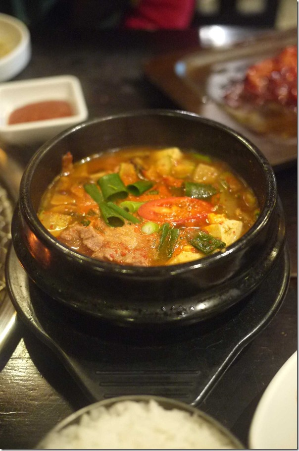 Gochujang Jjige - Red chilli paste hot pot $13