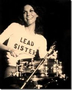 Karen Carpenter playing the drums