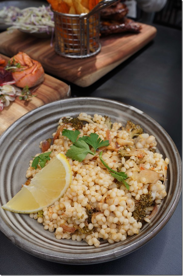 Shaved squid and couscous salad $16.50