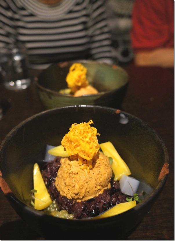 Black sticky rice and jasmine tapioc