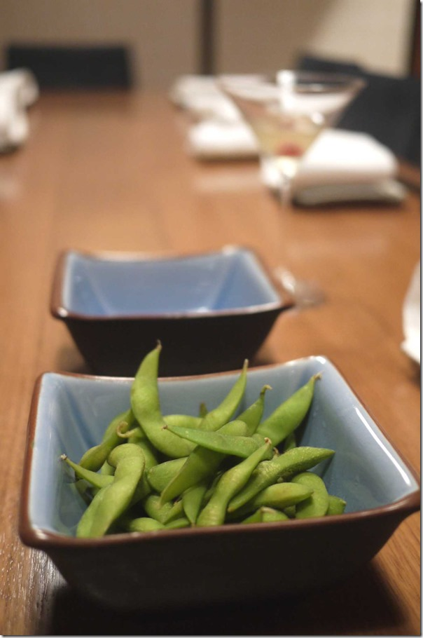Edamame ~ warm green soy beans $9