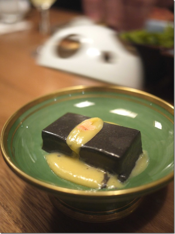 Black sesame tofu with yuzu miso