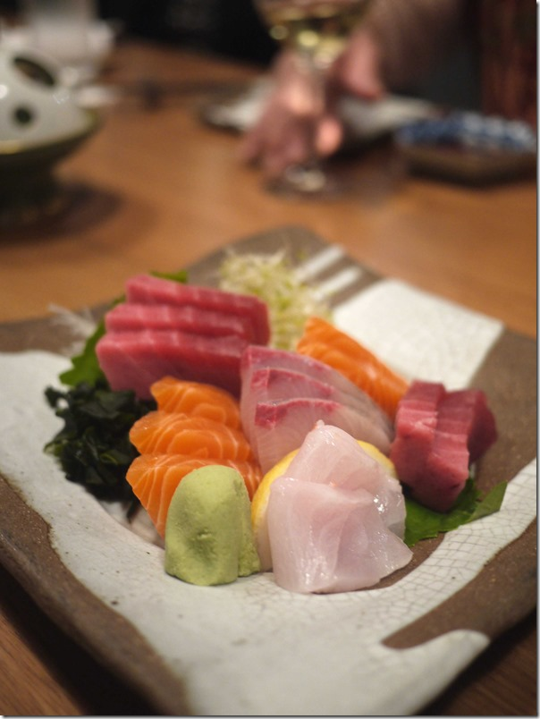 Assorted sashimi (15 slices main) $45