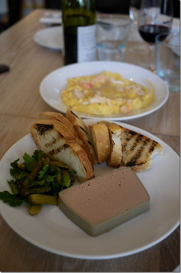 Pate de foie de canard and toast $18