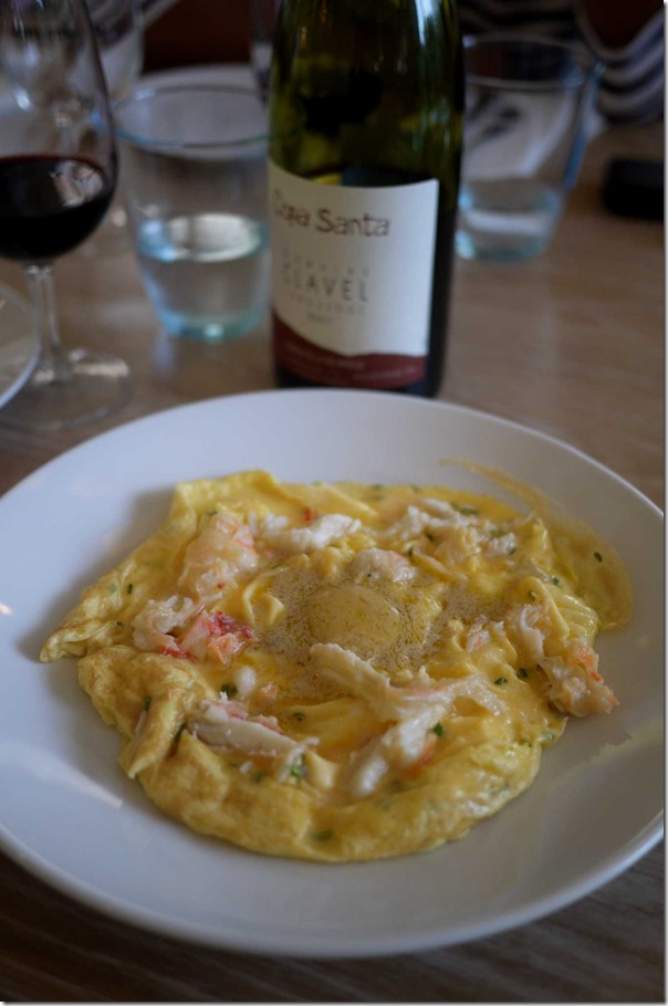 Omelette de crabe with foie gras butter $24