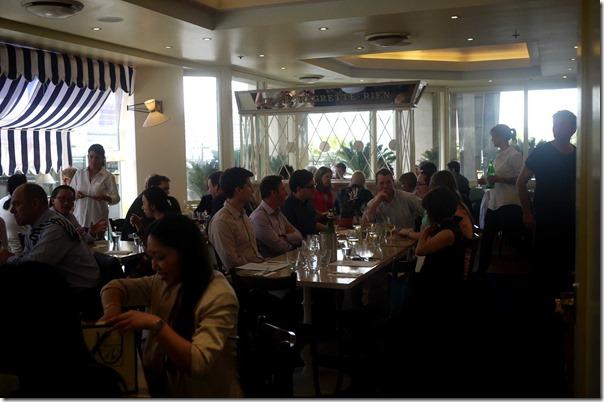Noisy: Dining room at Cafe Nice