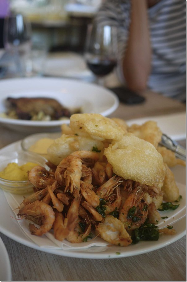 Cafe Nice fruits de mer fris for two (Deep fried mixed seafood) $55