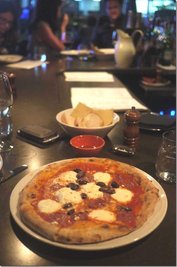 Luciano - tomato, fior di latte, salami, ricotta, olives