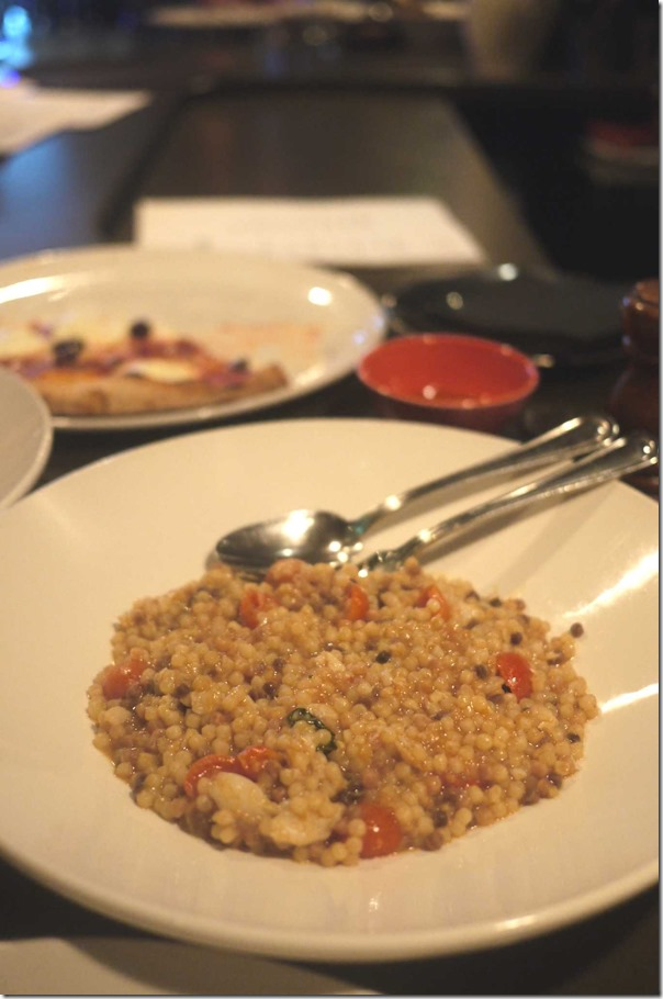 Fregola ~ spanner king crab & blue swimmer crab, cherry tomatoes and basil $24