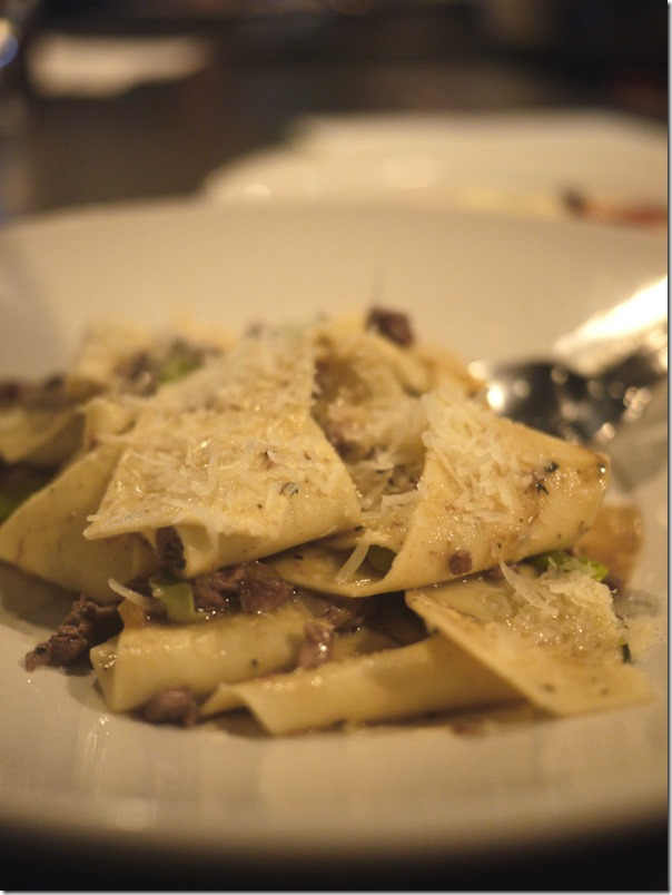 Pappardelle with lamb and broad bean ragu $26