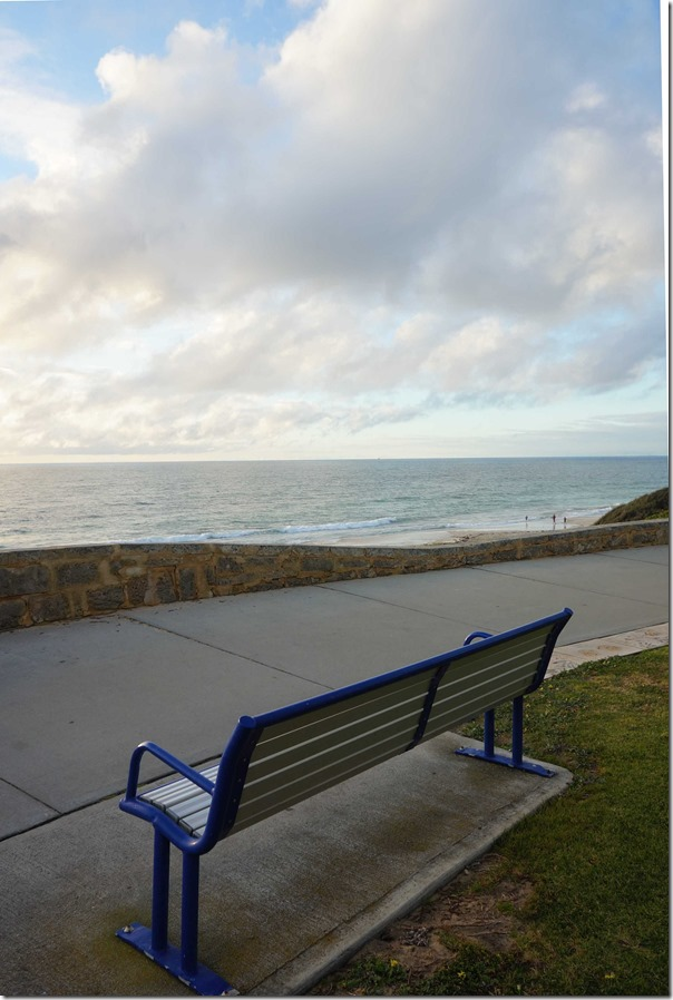 Park bench at Cottesloe beach, Perth, Western Australia