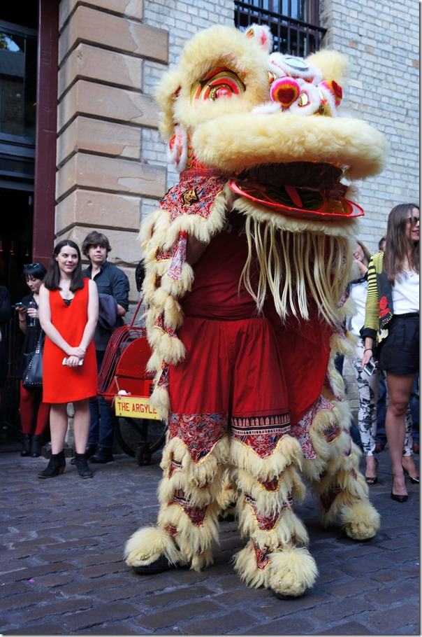 Lion dance at the opening of The Argyle, The Rocks Sydney