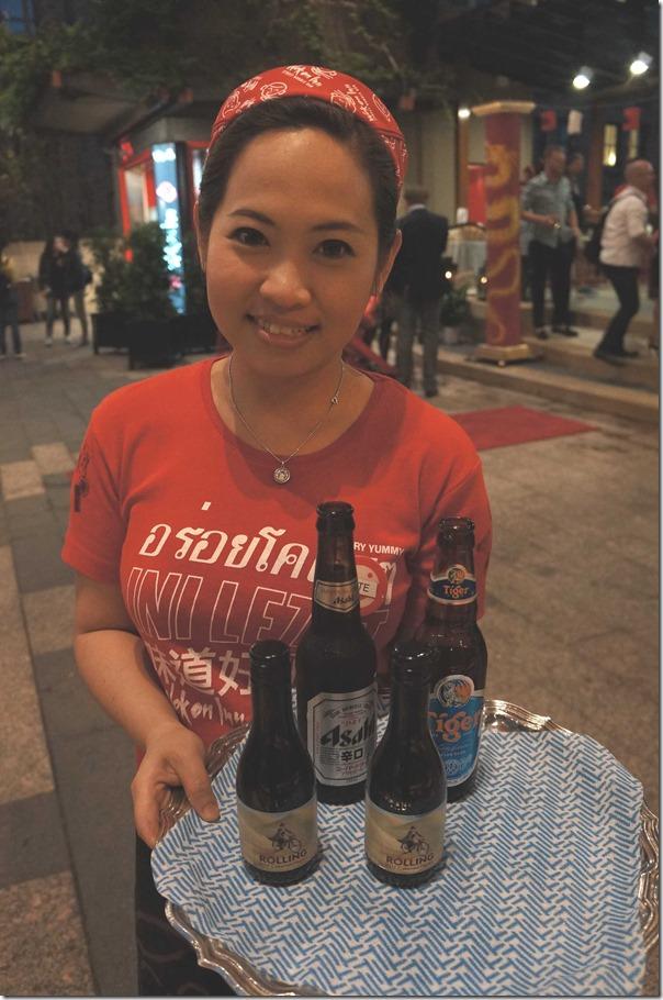 Beer and red wine, Wok on Inn, The Rocks Sydney