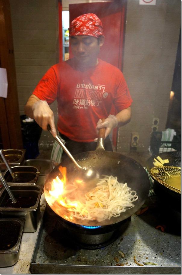 Stir-frying Pad Thai, Wok on Inn, The Rocks Sydney