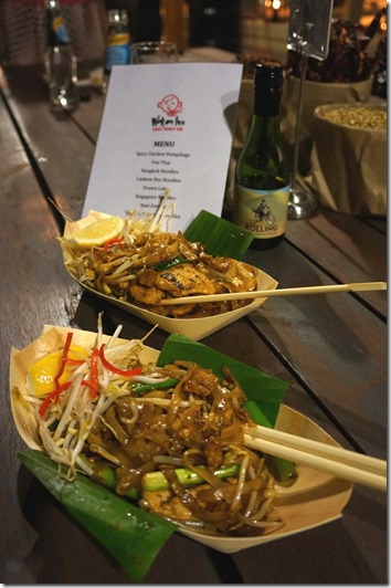 Thai stir-fried rice noodles at Wok on Inn, The Rock Sydney