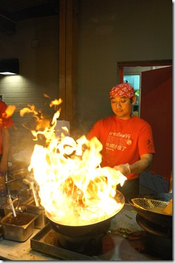 Fiery woks ~ Wok on Inn, The Rocks Sydney