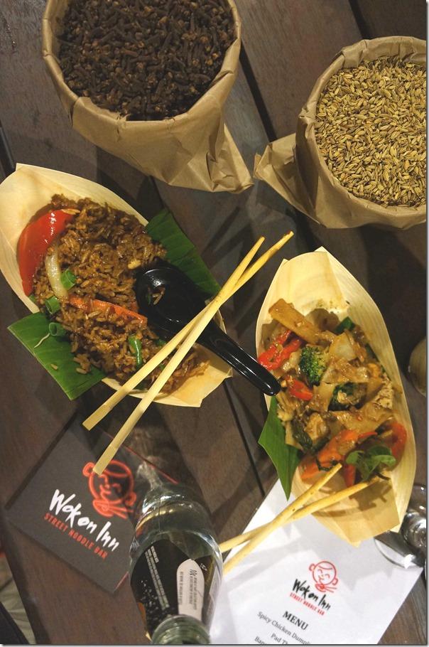 Stir-fried noodles and nasi goreng at Wok on Inn, The Rocks Sydney