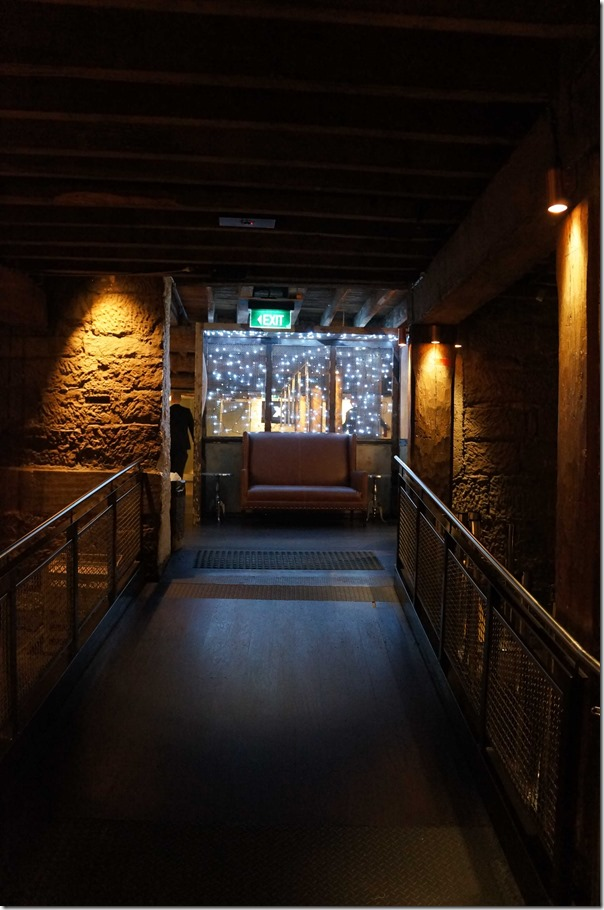 Corridor to the lavatories, The Argyle, The Rocks Sydney