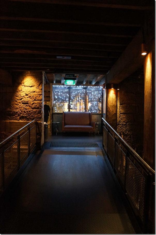 Corridor to the lavatories, The Argyle, The Rocks Sydney