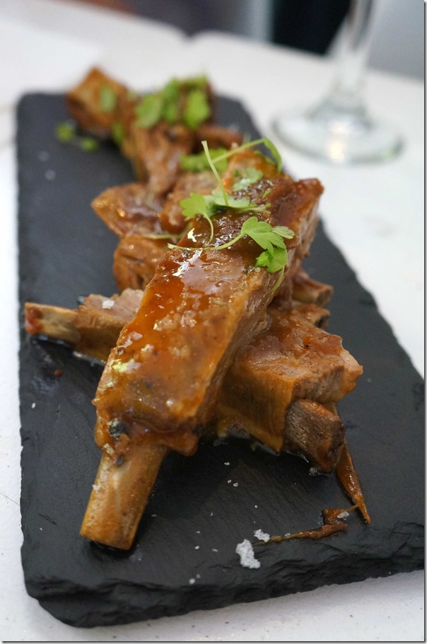 All day braised lamb ribs,rosemary, sherry vinegar (6) $23