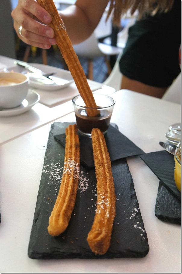 Churros, cinnamon sugar and spiced chocolate sauce $9