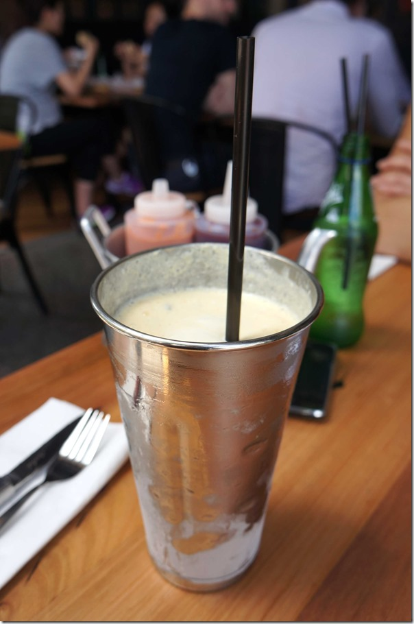 Passionfruit milkshake
