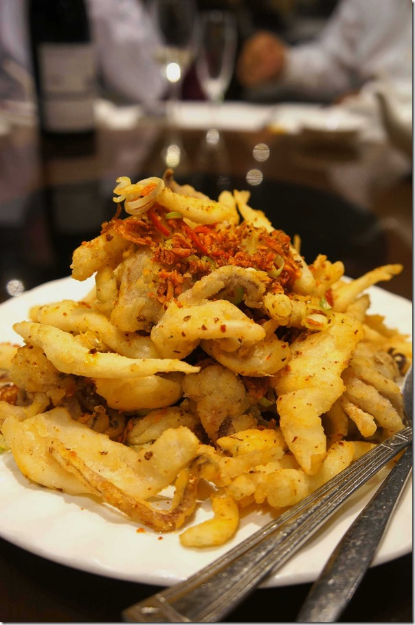 Spicy deep-fried whitebait and squid $36
