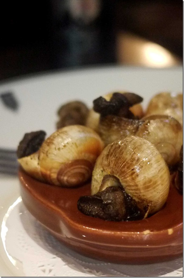 Wood roasted garlic snails #6 $23