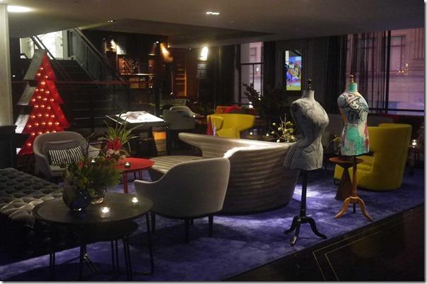 Mezzanine floor lobby lounge, QT Sydney