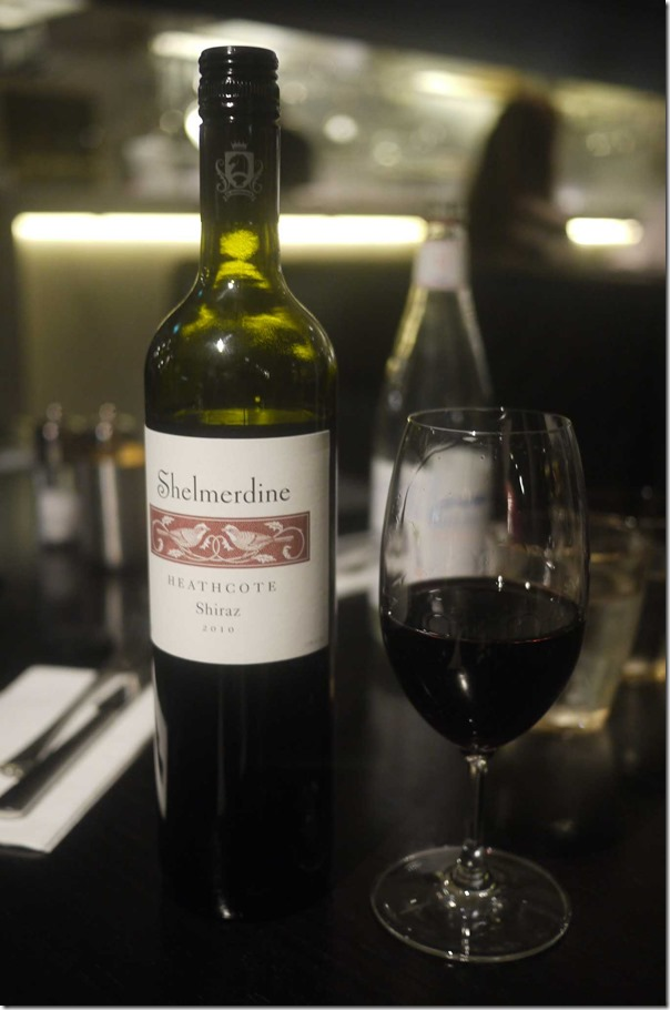 2010 Shelmerdine Shiraz $13 glass $50 bottle