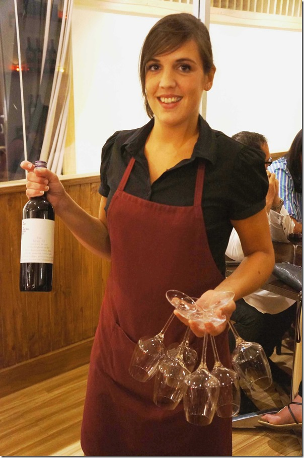 Wine service with a smile, Antoine's Grill, Concord