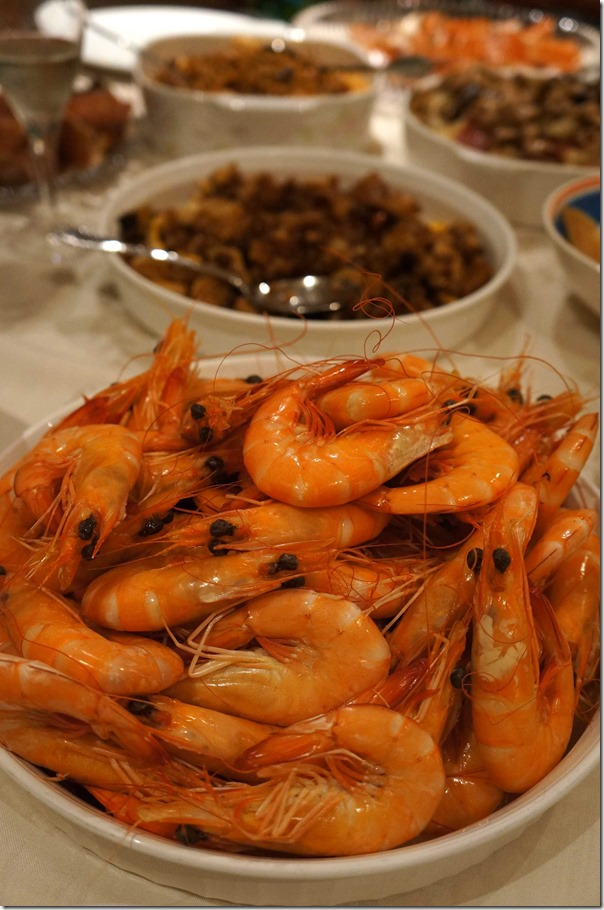 Cooked Crystal Bay prawns