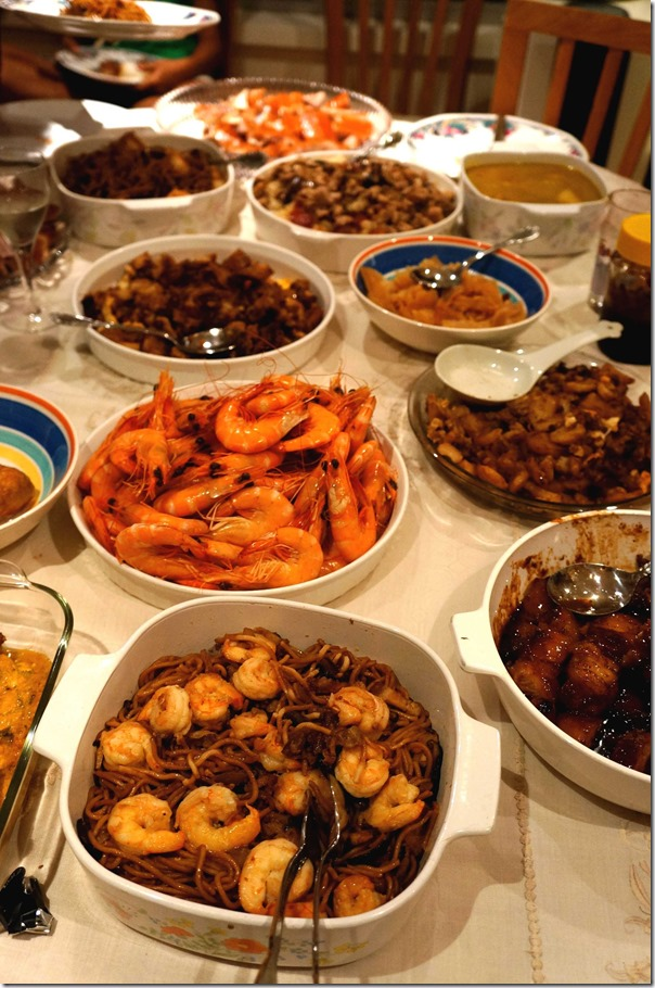 A Chinese New Year feast