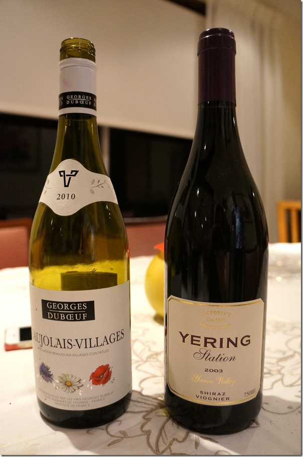 2010 Beaujolais-Villages and 2003 Yering Station