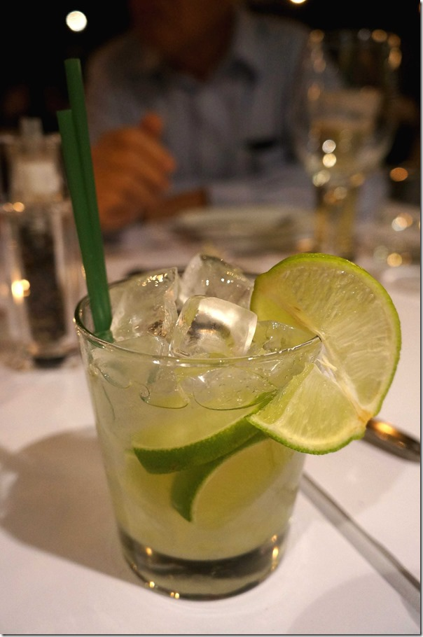 Lime caipiroska $12