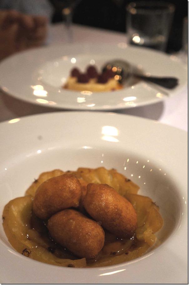 Sweet potato doughnuts, Pedro Ximenez glaze and pineapple $10