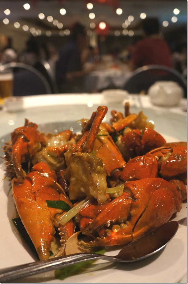 Stir-fried mud crabs with ginger and shallots $69 (2.5kg @$13.80/ half kg)