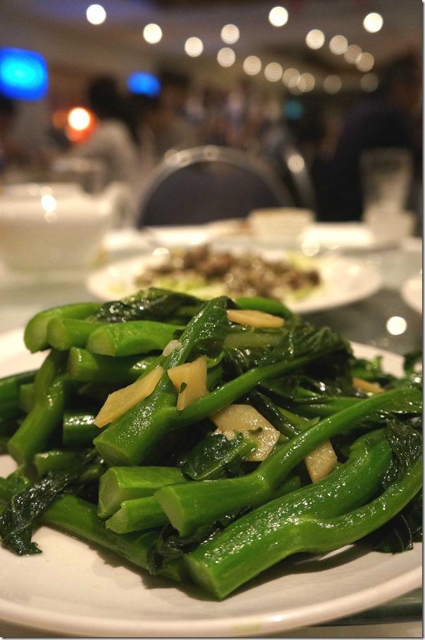 Stir-fried Chinese mustard greens or kai lan with ginger sauce $16.80