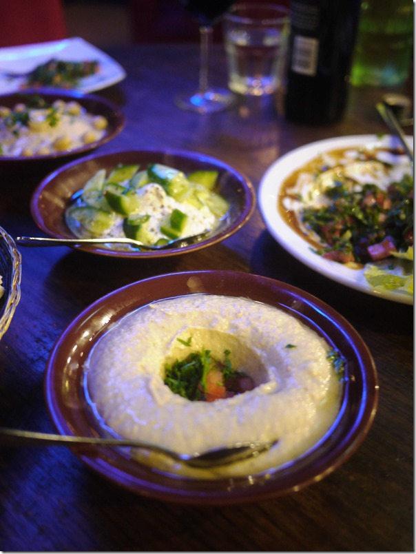 Babaganouj (comes with Hummus  & Garlic Labneh for 2 persons) $19