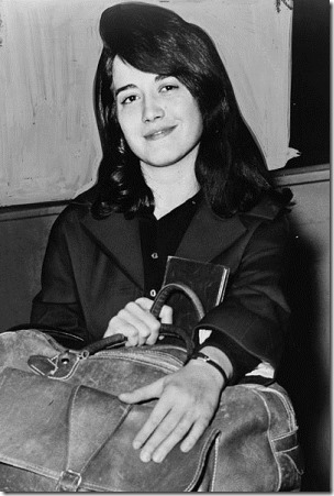 Martha Argerich at Pier 86, New York city in 1962 after having arrived on the liner Constitution (Photo credit: Dick DeMarsico)