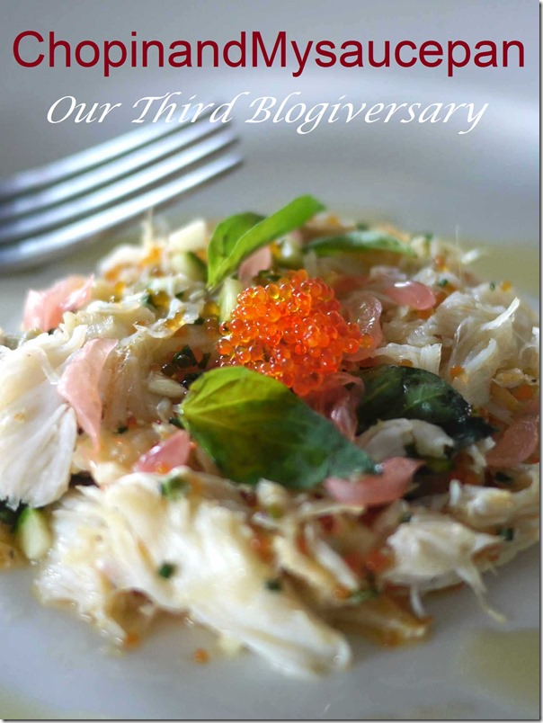 ChopinandMysaucepan ~ Our Third Blogiversary