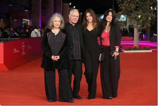 Martha Argerich, Stephen Kovacevich, Stephanie Argerich and Lyda Chen at the premiere of 'Bloody Daughter', The 7th Rome Film Festival