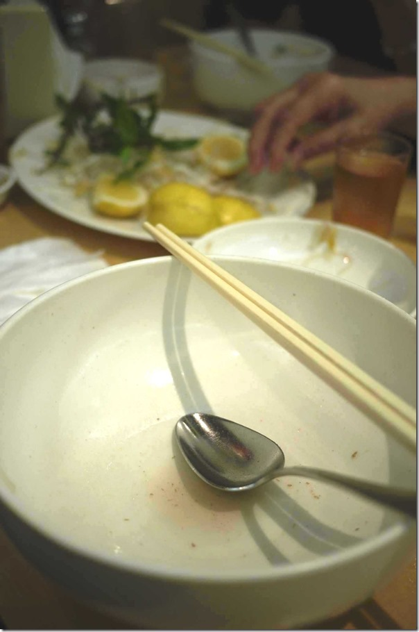 No-nonsense ~ My bowl at the end of every visit to An Restaurant